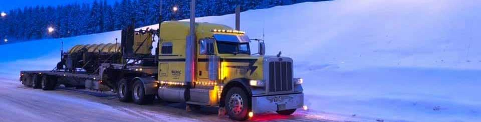 City Cross Docking - Truck and snow